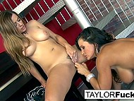 Lesbian Taylor Vixen manages to work together with tanned pornstar Lisa Ann with big breasts 8