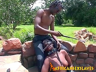 African love met old friend and took him to nature where he punished chocolate beating her boobs and snatch