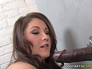Girl wants to work in porn so she has no right to ignore big black cock from gloryhole 8
