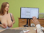 Czech girl with massive hooters has required documents but she will receive a loan after sex 4