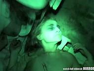 Отличное видео от первого лица, которое совмещает в себе ужастики и перепих втроём 11