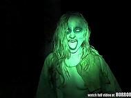Отличное видео от первого лица, которое совмещает в себе ужастики и перепих втроём 6