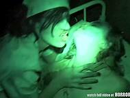 Отличное видео от первого лица, которое совмещает в себе ужастики и перепих втроём 9