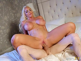 Mind-boggling MILF Nicolette Shea with huge tits and ass can't resist cheating on husband with his stepbrother
