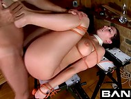 Babes relax being used by brutal men tying them up and drilling in all the holes 6