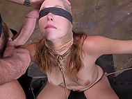 Brave slut Ella Nova not afraid to be tied up and impaled roughly in all her welcoming holes 5