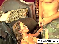 Remarkable cougar Capri Cavanni relaxes in bedroom with lover who drills her moist snatch 4