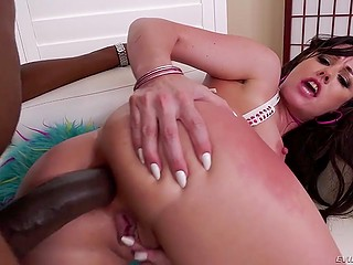 Big black cock is a guarantee that super sexy MILF will receive a lot of pleasure from anal fuck