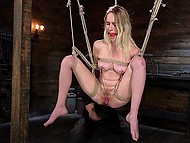 Poor girl agreed to be punished and humiliated so now she can only suffer and cum 10