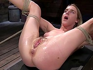 Poor girl agreed to be punished and humiliated so now she can only suffer and cum 11
