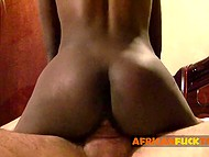 European guy gives cock ride to black girl from Africa and oils buttocks in amateur porn video 6