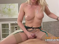 Natural female is so beautiful that man is getting off on touching her and fucking pussy 5