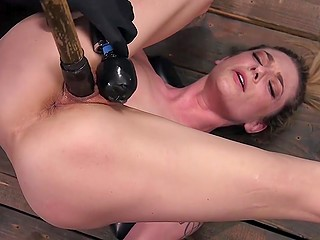 Uncontrolled BDSM lover Dahlia Sky gives pussy to man for fucking and macho penetrates her with toys