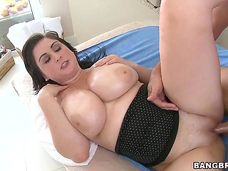 Tender mouth and pussy of sexy female and crooked cock of man belong together in gonzo porn
