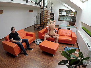 Stranger with camera offers Czech couple money for the opportunity to fuck blonde cutie