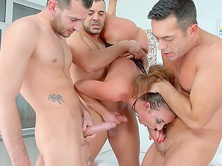 If somebody will doubt Amirah Adara's sexual potential, this gangbang video is recommended to be watch