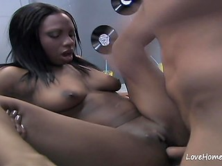 Chocolate is lucky today because she is picked up and fucked by white womanizer in amateur porn