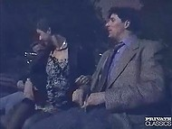 Males and dirty girl found a quiet place in the park to fuck together in the dead of night 4