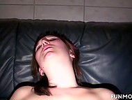 Sexy female fucked by husband's cock and dildo then giving him blowjob in a sex shop 8