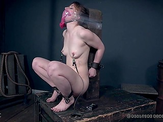 Redhead Kate Kennedy's obedience makes man sure she wants BDSM so he has fun with no limits