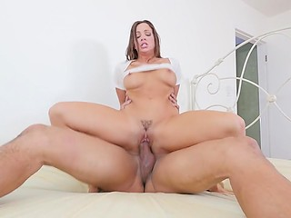 Gorgeous girl Abigail Mac is very excited and she needs nothing but strong cock inside pussy