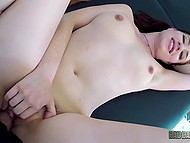 Girl over thirty with two ponytails Jessica Ryan is fucked by her own stepfather on camera 10