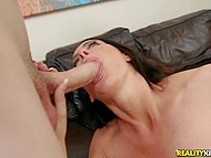 Brunette MILF Reagan Foxx with amazing breasts offers guy a ride counting on fucking 5
