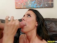 Brunette MILF Reagan Foxx with amazing breasts offers guy a ride counting on fucking 7