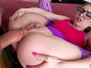 Good anal penetration is the thing that can bring nerdy chick Angel Smalls to squirting