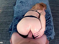 Submissive secretary in stockings does every order of boss even if it means to let him fuck her asshole 11