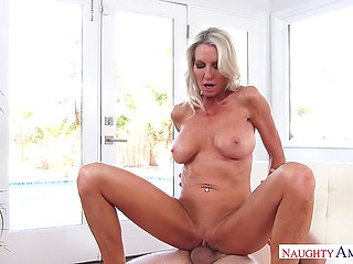 Hot housewife with big tits needs somebody to fuck her well and neighbor becomes her sex partner