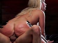 Суровый мастер грубо совокупляется с беспомощной блондинкой в своём тёмном подвале 6