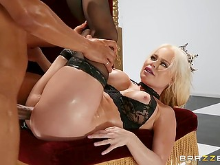 Only good anal fuck will help valiant black knight tame seductive queen Nikki Delano