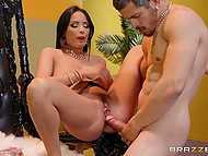 Latin buddy analyzes criminal leader Anissa Kate for opportunity to become member of her gang 6