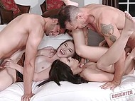 Sluts Gracie May Green and Tory Bellamy celebrate New Year by seducing each other's stepdad 9