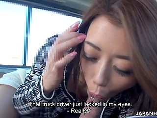 It isn't the first time when Japanese MILF acts on camera so she sucks cock pretty confident