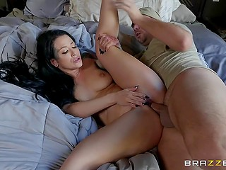 Inked brunette Katrina Jade cheats on husband with delivery guy who is owner of impressive prick