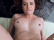 Naughty redhead Scarlet Johnson uses neighbor's throbbing penis to satisfy own sexual needs 8