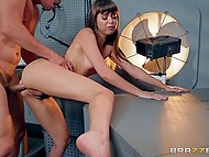 Reporter Riley Reid is too curious and she will pay for it by anal sex with scientist 8