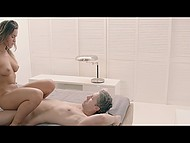 Passionate lovemaking of Euro hottie Naomi Bennet and her man culminates with amazing cumshot 5