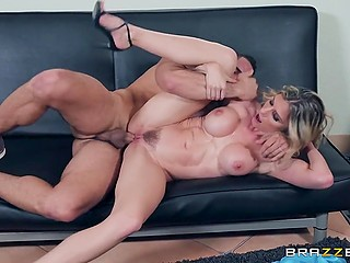 Marvelous MILF Cory Chase likes neighbor guy's cock and she takes decisive action