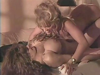 Vintage porn video shows that naked massage can suddenly turn into lesbian sex of two lovelies