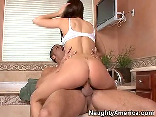Naughty girl Elizabeth Anne makes move on friend's brother and this leads to fantastic fuck