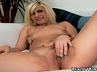 Good-looking blonde should prepare herself for fuck and masturbation on camera helps her