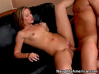 Lovely girl Maxine Tyler comes to professor's house for private lesson that ends with awesome sex