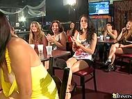 В клубе слишком много девушек, так что не каждой повезёт заполучить член стриптизёра в ротик 8