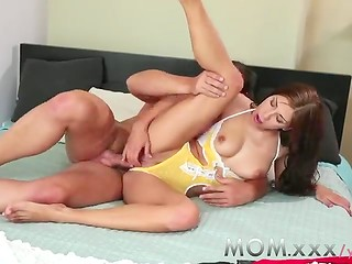 Sexy MILF surprises her lover with sexy lingerie and awesome fucking action