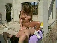 Elegant Swedish girl with big tits has sex in the pretty cool vintage action