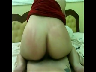 Amateur blonde MILF gets her ass creampied because of boyfriend's sexual actions