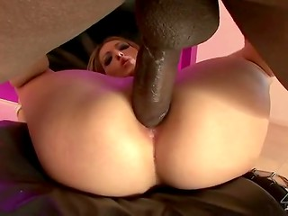 Petite Jenna Haze gets rammed by big black man's huge dick